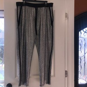 Silver sparkly pants
